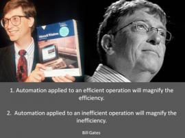 Gates productivity quote