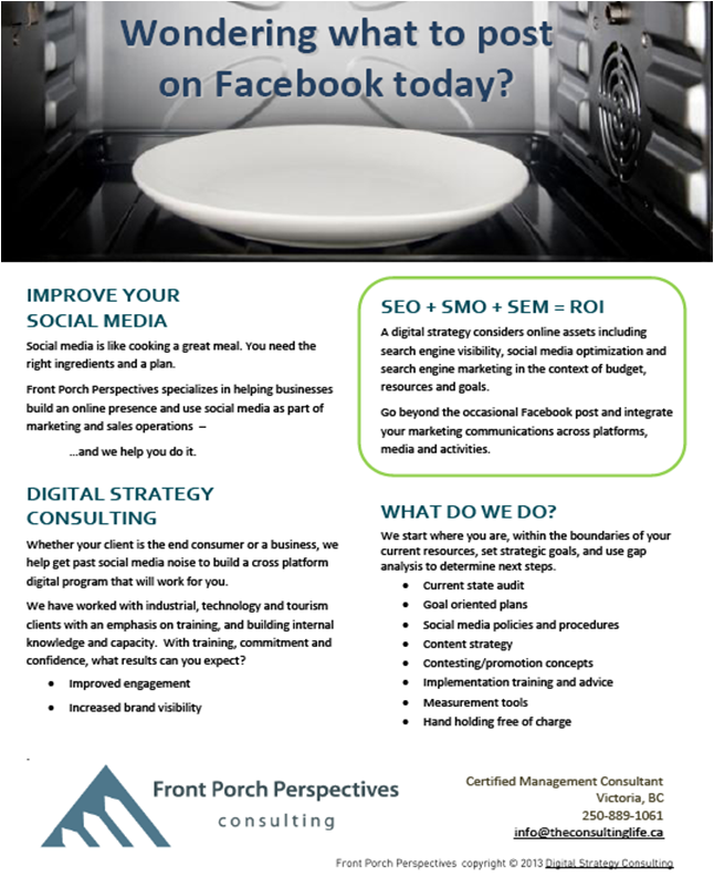 Image of social media consultant brochure